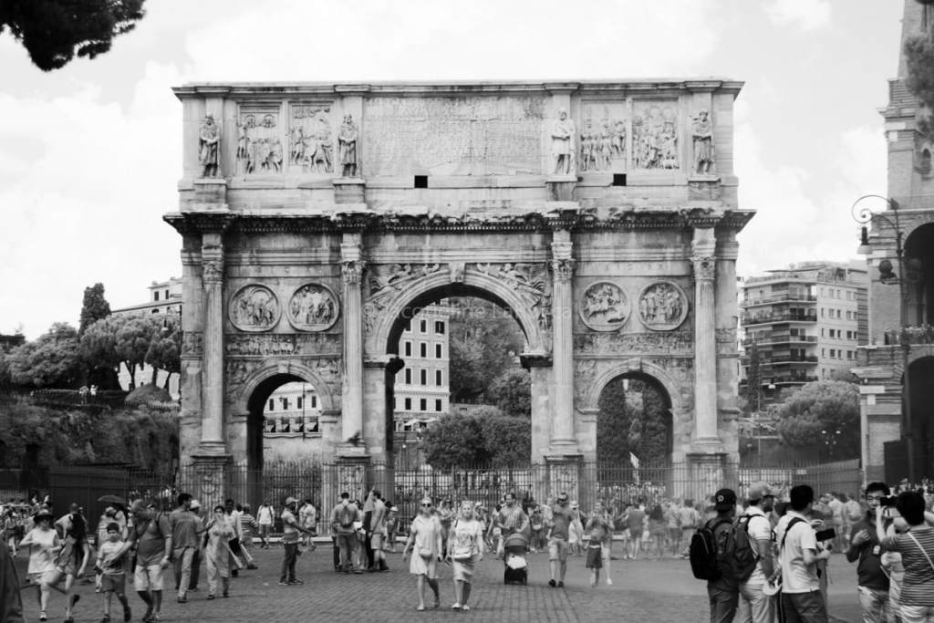 Arch of Constantine   black and white photography