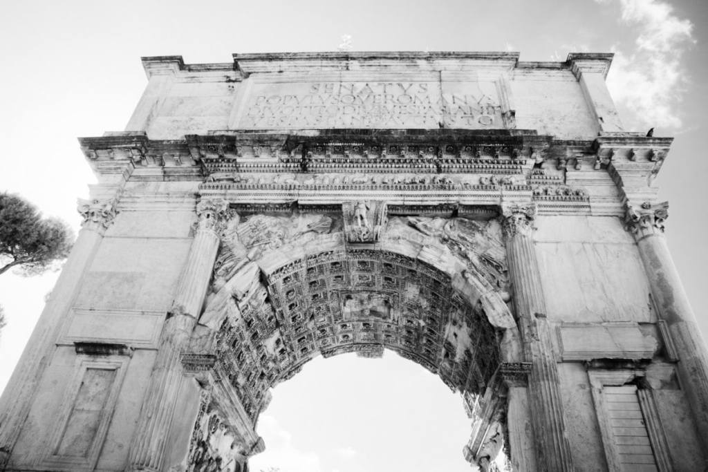 Arch of Titus   black and white photography
