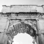 Arch of Titus, Rome, Italy fine art black and white photography by Jacqueline LaRocca