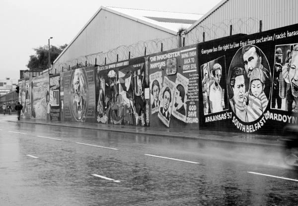 Falls Rd Murals Belfast, Ireland | black & white photography |
