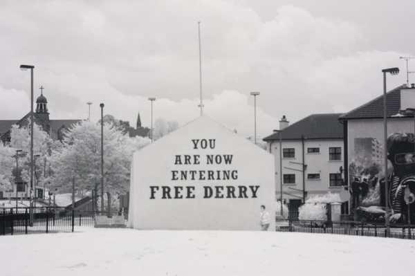 Free Derry Mural, Derry, Ireland | black & white infrared photography |