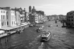 Grand Canal, Venice, Italy | black & white photography |