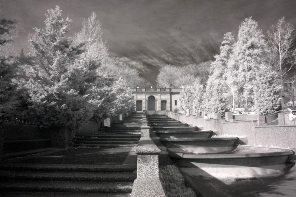 Malcolm X Park | infrared black and white photography