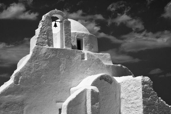 Mykonos Church, Greece | black & white photography |