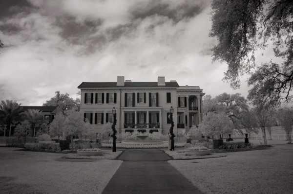 Nottoway Plantation, Louisiana | black & white photography |