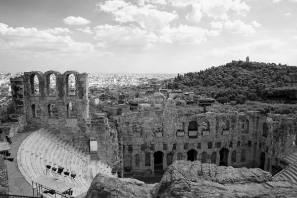 Odeon of Herodes Atticus Theater, Athens, Greece | black & white photography |