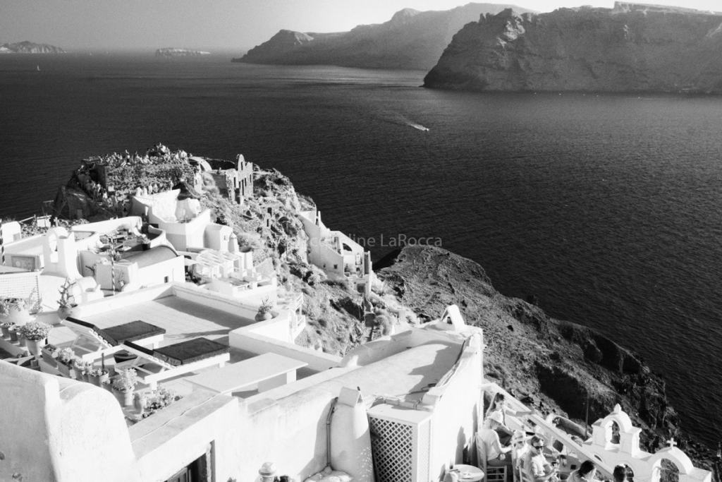 Oia Sunset-Santorini   infrared black and white photography