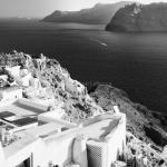 Oia Sunset-Santorini, Greece fine art infrared black and white photography by Jacqueline LaRocca