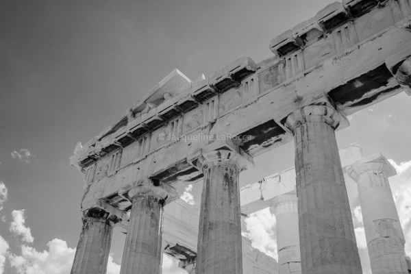 Parthenon, Acropolis, Athens, Greece | black & white photography |