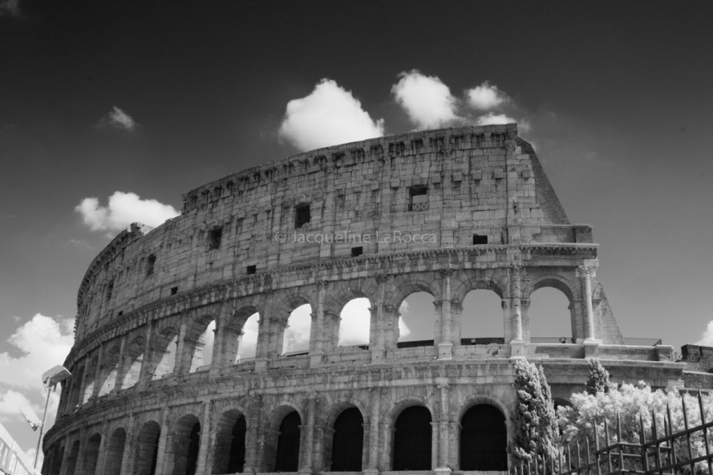 The Coliseum   black and white photography