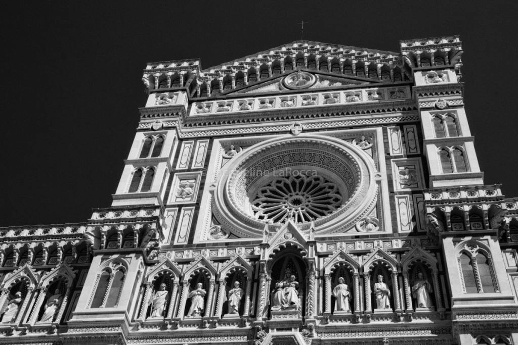The Duomo in Florence, The Catheral of Santa Maria del Fiora   black and white photography