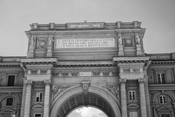 Triumphal Arch of the Lorraine, Florence, Italy | black & white photography |