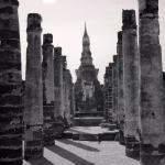 UNESCO Temple Ruins, Sukhothai, Thailand fine art infrared black and white photography by Jacqueline LaRocca
