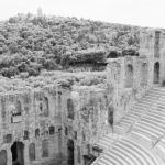 View from Odeon of Herodes Atticus, Athens, Greece fine art infrared black and white photography by Jacqueline LaRocca|