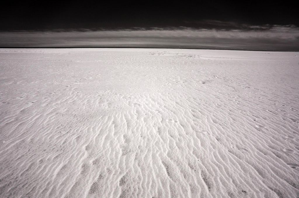 Assateague Island Sand | black and white photography print by Jacqueline LaRocca