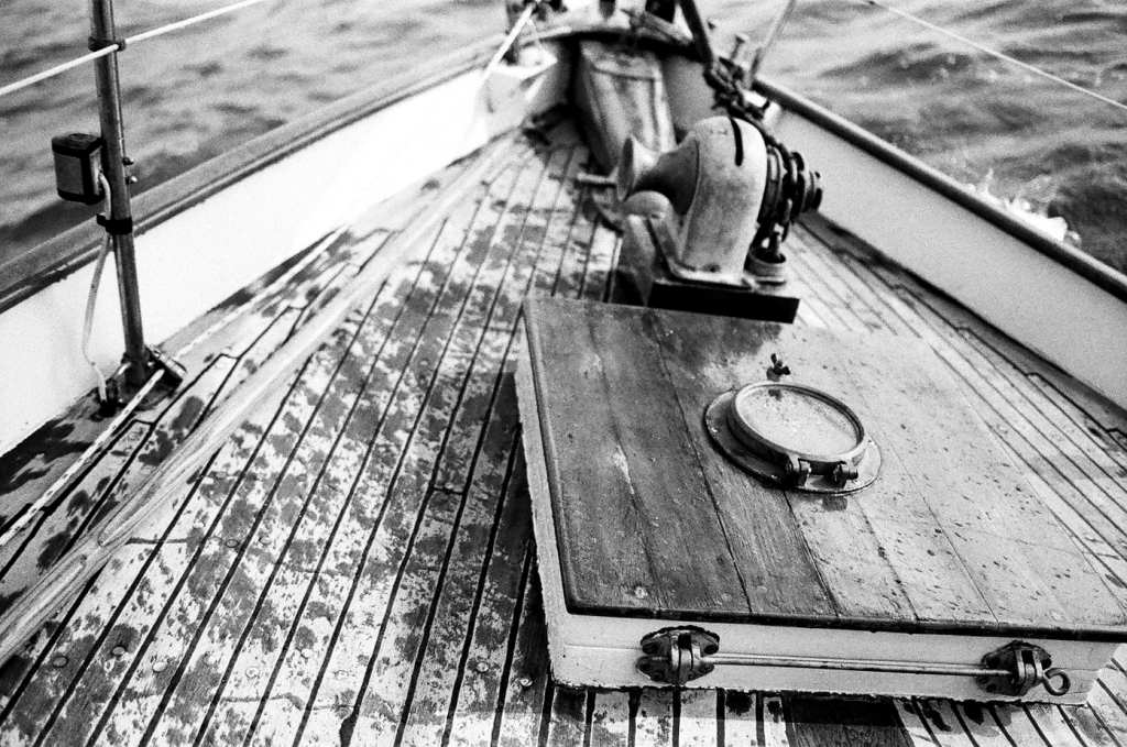Deck of Lady Patty | black and white photography print by Jacqueline LaRocca