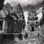 Angkor Wat Buddhist Temples, Cambodia | black & white photography by Jacqueline LaRocca