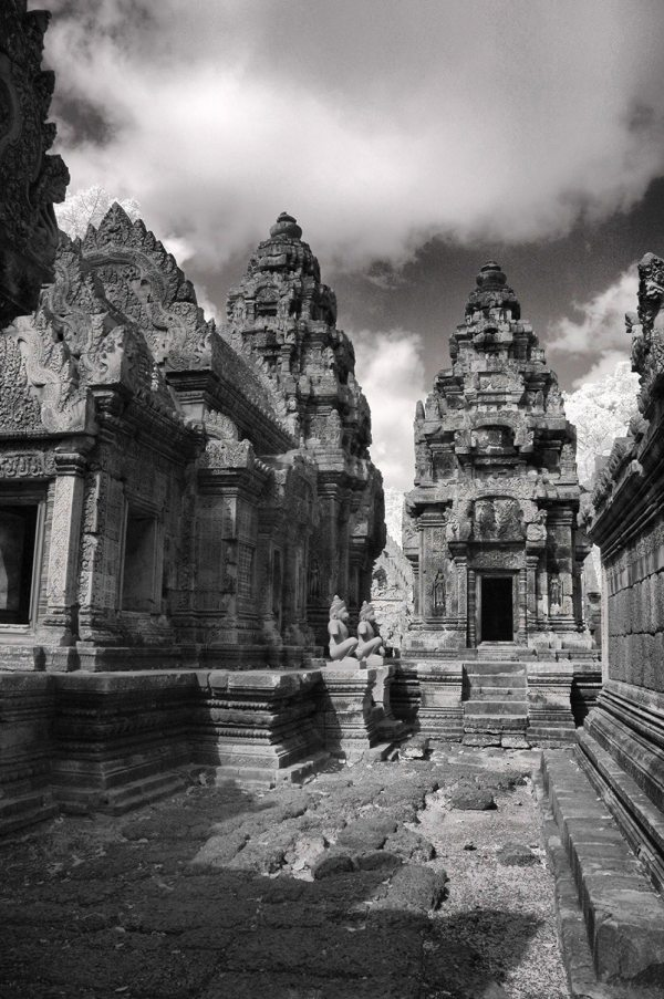 Angkor Wat Buddhist Temples, Cambodia | black & white photography |
