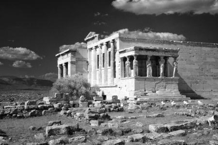 Erechtheion-Acropolis of Athens fine art infrared black and white photography by Jacqueline LaRocca