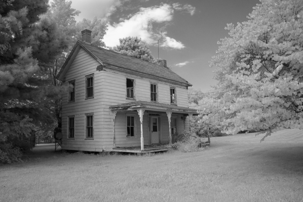 Abandoned House on Tilghman Island | black and white photography by Jacqueline LaRocca