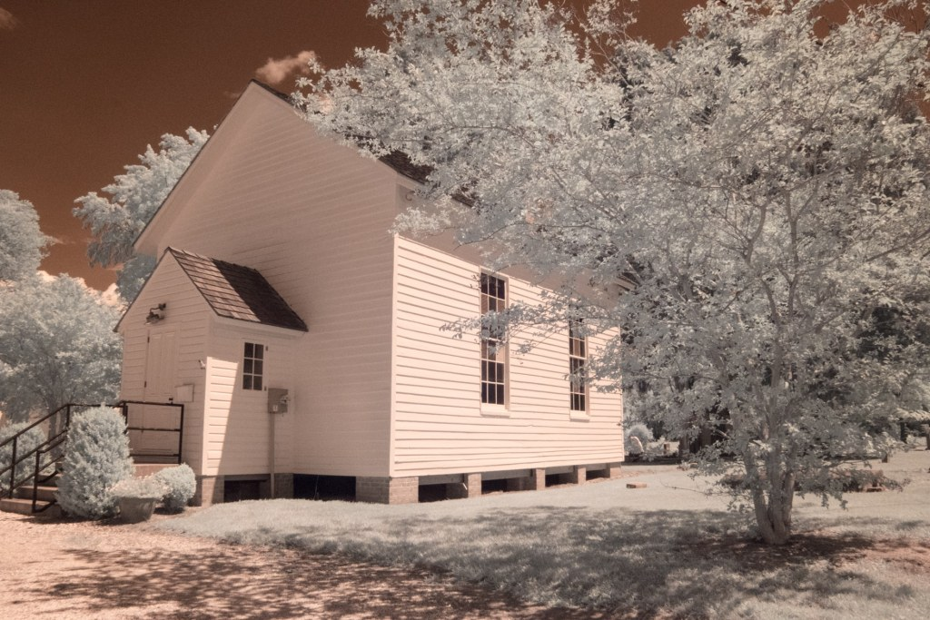 John Wesley Church Oxford Maryland infrared photography by Jacqueline LaRocca
