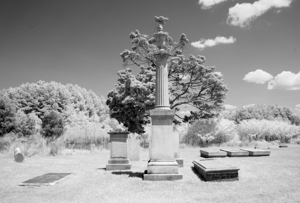 Tench Tilghman Gravesite Oxford Maryland | infrared black and white photography print by Jacqueline LaRocca