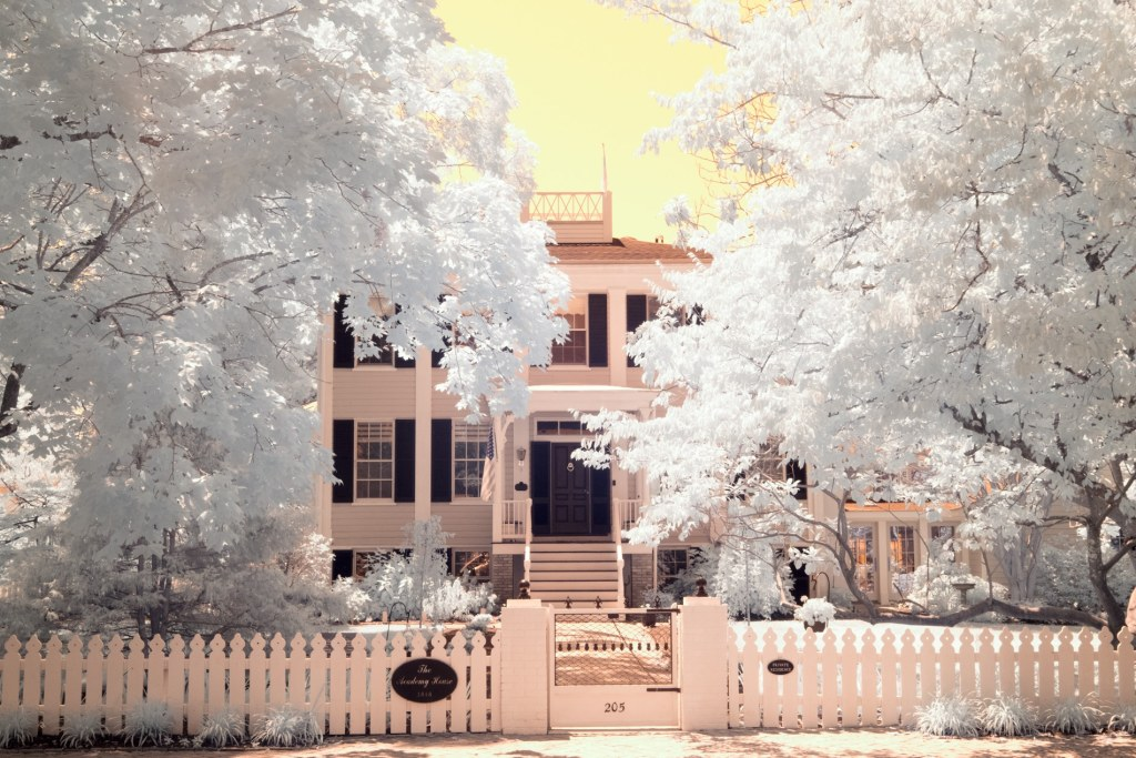 The Academy House Oxford Maryland | infrared photography print by Jacqueline LaRocca