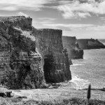 Cliffs of Moher, Clare, Ireland | fine art infrared black and white photography by Jacqueline LaRocca