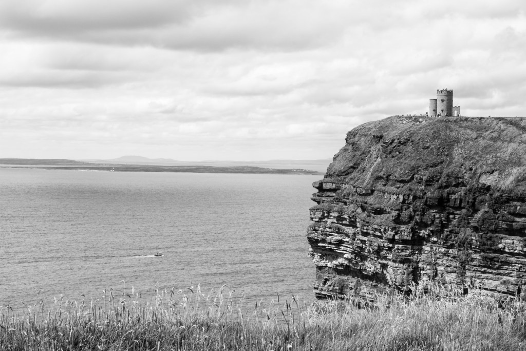 Cliffs of Moher With Boat, Clare, Ireland