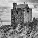 Dunguaire Castle, Galway, Ireland | fine art infrared black and white photography by Jacqueline LaRocca