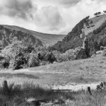 Glendalough, Wicklow, Ireland fine art infrared black and white photography by Jacqueline LaRocca