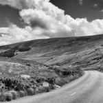Road through Wicklow Mountains, Ireland fine art infrared black and white photography by Jacqueline LaRocca