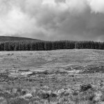 Wicklow Mountain landscape, Ireland fine art infrared black and white photography by Jacqueline LaRocca